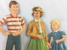 VINTAGE-DICK-AND-JANE-1950-039-S-SCHOOL-CUT-OUTS-PAPER-DOLL-FIGURES-SCOTT-FORESMAN