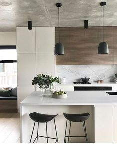25 Beautiful Small Kitchen Ideas for Your Home Contemporary Kitchen Beautiful Home Ideas Kitchen small Elegant Kitchens, Beautiful Kitchens, Cool Kitchens, Dream Kitchens, Kitchen Modern, Modern Farmhouse Kitchens, Contemporary Kitchen Design, Interior Design Kitchen, Kitchen Decor