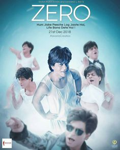 Image result for shahrukh khan Zero movie poster