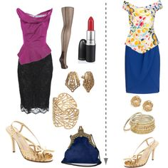 A fashion look from September 2012 featuring Vivienne Westwood Anglomania blouses, Monsoon skirts and J by Jasper Conran tights. Browse and shop related looks.