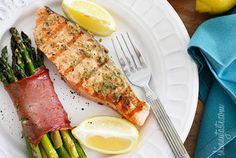 Grilled Garlic Dijon Herb Salmon — Recipe from Skinny Taste. Made this the other night, very delicious^^