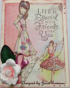Any Occasion Card with Prima Doll by HeavenlyMoments on Etsy, $5.00