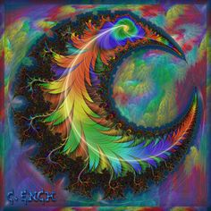Crescent by Cory Ench ~ flame fractal composite
