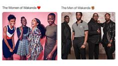 The men and women of Wakanda.tell me, who looks like more fun to hang out with? Marvel Funny, Marvel Memes, Marvel Dc Comics, Mcu Marvel, The Avengers, Loki Thor, Shuri Black Panther, Dc Movies, The Villain