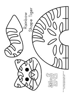 Children's activity and craft templates. Preschool Jungle, Preschool Crafts, Tiger Crafts, Animal Crafts, Paper Animals, Felt Animals, Projects For Kids, Crafts For Kids, Preschool Coloring Pages