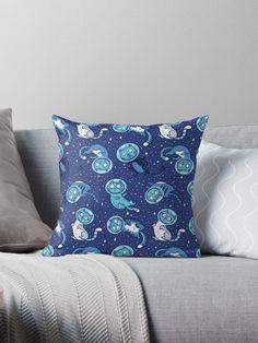 Astronaut Cat Pillow by Penguinhouse. Gift original this year. #giftoriginal