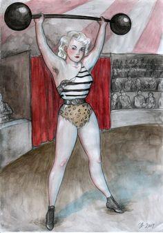 New art: Strongwoman – Johanna's blog. Hell yes!!! Johanna Ost is seriously my favorite artist!