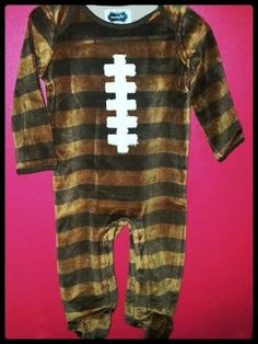 Velour one piece football outfit