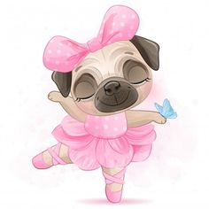 Discover thousands of Premium vectors available in AI and EPS formats Cute Pug Puppies, Cute Pugs, Baby Puppies, Baby Pugs, Terrier Puppies, Bulldog Puppies, Boston Terrier, Disney Drawings, Cute Drawings