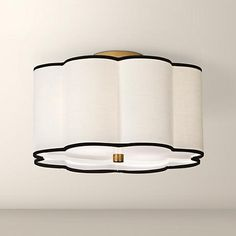 "Robert Abbey Axis 16"" Wide Aged Brass Ceiling Light - #V1771 