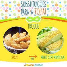 Substituições saudáveis para o #carnaval http://maisequilibrio.com.br/nutricao/o-que-comer-na-praia-2-1-1-129.html