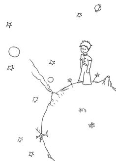 Click to see printable version of Little Prince Manuscripts coloring page