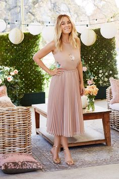 Gorgeous new LC Lauren Conrad Dress Up Shop!! Paillette High-Low Top, $54 Pleated Metallic Skirt, $64 new LC Lauren Conrad Dress Up Shop