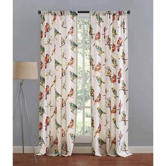 "Richloom 50"" x 84"" Bird Song Curtain Panel - Walmart.com"