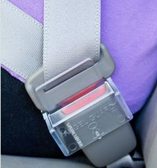 Angel Guard is a plastic cover to prevent the seat belt being released accidentally. It is easy to install and remove. -Courage Kenny Rehabilitation Institute