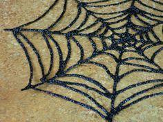 DIY Glitter Glue Spiderwebs