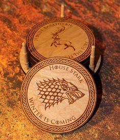 Game Of Thrones Coasters GOT Coaster GOT Jon Stark House