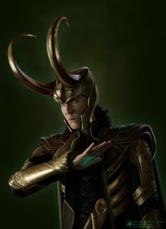 #TomHiddleston | #Loki in #JossWhedon's #TheAvengers (2012) #Marvel | Gorgeous fanart