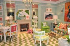 Lilly Pulitzer-Inspired Room (maybe for a playroom)