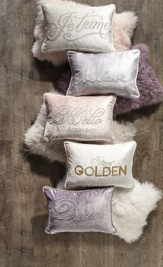 Glamorous Pillows to keep your fabulous friends cozy and warm with inspirational messages!