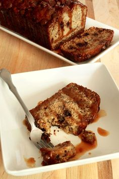 Milk Chocolate Caramel Banana Bread. This recipe is a great way to use those over-ripe bananas and treat yourself to a little something sweet. A handful of milk chocolate chips and a drizzle of homemade caramel sauce makes this a fabulous dessert bread!