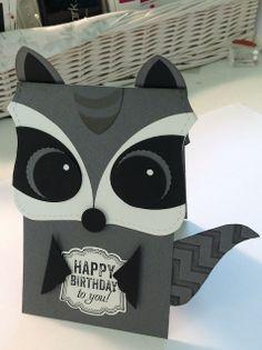 InkyPinkies: Lil' Raccoon Punch Art Birthday Card