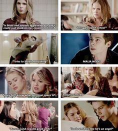 malia hale: a summary on We Heart It Teen Wolf Ships, Teen Wolf Mtv, Teen Wolf Funny, Teen Tv, Teen Wolf Cast, Stiles And Malia, Malia Hale, Teen Wolf Quotes, Teen Wolf Memes