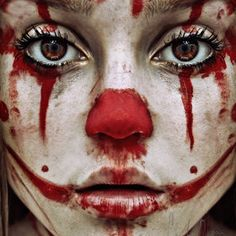 Add a little more wild hunger to those clown eyes and this could have you blending in with your fellow zombies.