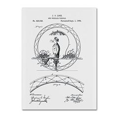 Trademark Fine Art One Wheeled Vehicle Patent 1885 White by Claire Doherty, 14x19-Inch Trademark Fine Art http://www.amazon.com/dp/B016BPQPQU/ref=cm_sw_r_pi_dp_PVsjwb0H39P79