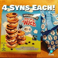 I think I'm in love! 4 syns each! Didn't think I'd be able to have Ben n Jerrys on Slimminng world! Slimming World Sweets, Slimming World Syns List, Slimming World Puddings, Slimming World Syn Values, Slimming World Dinners, Slimming World Recipes Syn Free, Sugar Free Biscuits, Syn Free Food