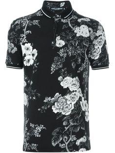 Dolce & Gabbana polo con estampado floral