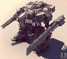bassman5911:  LgT-64mc by Crashmgn LgT-64 (NATO reporting name: swashbuckler)  Type: Main battle mech Place of origin: Russia  In service: 2031 – present Designer: Kartsev-Venediktov Manufacturer: Uralvagonzavod Unit cost: $4.55 – 10.25 million USD Number built: 1,667+  Weight: 54.5 tonnes Height: 6.22m Length: 4.38m Width:9.63m  Crew: 1 Main armament: 30mm rifled gun  Secondary armament: hydraulic tesla-cutter  Engine: Model 84V-84 electro-chemical ...