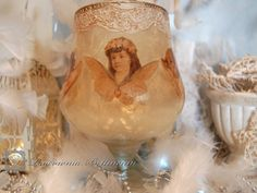 Angel candlestick by Bettineum on Etsy, $50.00