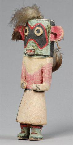 """Hochani """"circa 1930"""" Hopi Hopi katsina (kachina) doll of Hochani, circa 1930. The Hochani katsina may appear in the Mixed Katsina Dance. Collected by John L. Nelson."""