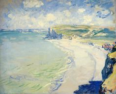 The Beach at Pourville by Claude Monet