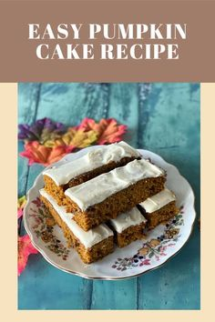 Don't miss this easy Pumpkin Cake recipe, warmly spiced with cinnamon and nutmeg and studded with walnuts and raisins. It's delicious frosted or plain! Savory Pumpkin Recipes, Vegan Pumpkin, Healthy Pumpkin, Pumpkin Spice, Delicious Cake Recipes, Yummy Cakes, Different Kinds Of Cakes, Pumpkin Sheet Cake, Recipe For Mom
