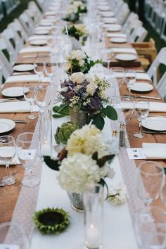 swiss dot lace table runner, photo by @Doriana Westerman /Sun + Life Photography http://ruffledblog.com/california-redwoods-wedding #tablescapes #reception #weddingideas