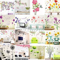 Family Flower Tree DIY Removable Art Vinyl Wall Stickers Decal Mural Home Decor #Unbranded #ArtsCraftsMissionStyle