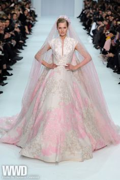i think i've dreamed of this dress... Elie Saab 2012 pink bridal gown w/ veil