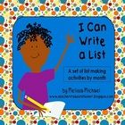 My students are having so much fun writing lists this year!  I've created these writing prompts for each month (September - May).  They use the pro...