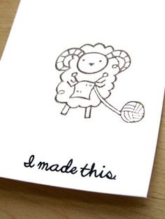 Set of 4 GIft Tags for Handmade Knitted Gifts Sheep. $1.75, via Etsy.