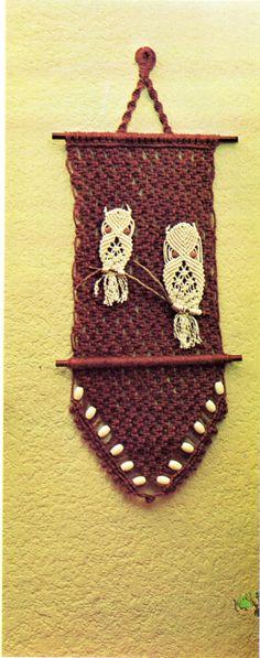Vintage-macrame-owls-wall-hanging