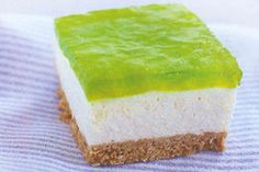 Jelly cheesecake slice