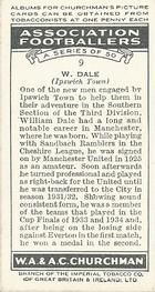 1938 W.A.& A.C Churchman #9 W. Dale Back