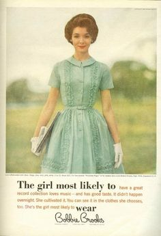 Klinkt als een mad men advertentie! Bobbie Brooks in mint green