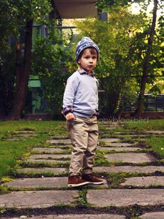 This boy is sooo cute :) I'm going to dress my kids up in cute outfits like this :)