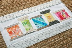 Such a perfect line up for leftover scraps and smaller bits. Would even look cool made from selvages! Perfect Adventures in Paper Piecing - Take Two