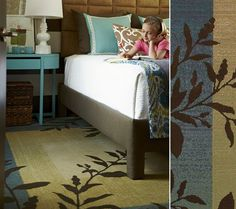 """HGTV HOME Flooring by Shaw area rug """"Charlotte"""" in color Teal Blue.  Lawson Brothers Floor Company -                                                                                                                             www.lawsonbrothersfloor.com  #flooring"""