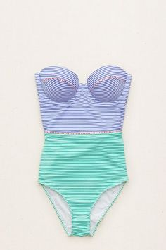 Audrey Lightly Lined One-Piece Swimsuit , Classic Blue | Aerie for American Eagle