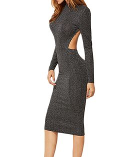 Shine Like A Star Dress #fashion #sexy #dress #grey #winter
